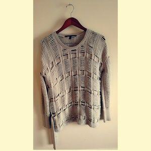 Beige Crochet Sweater